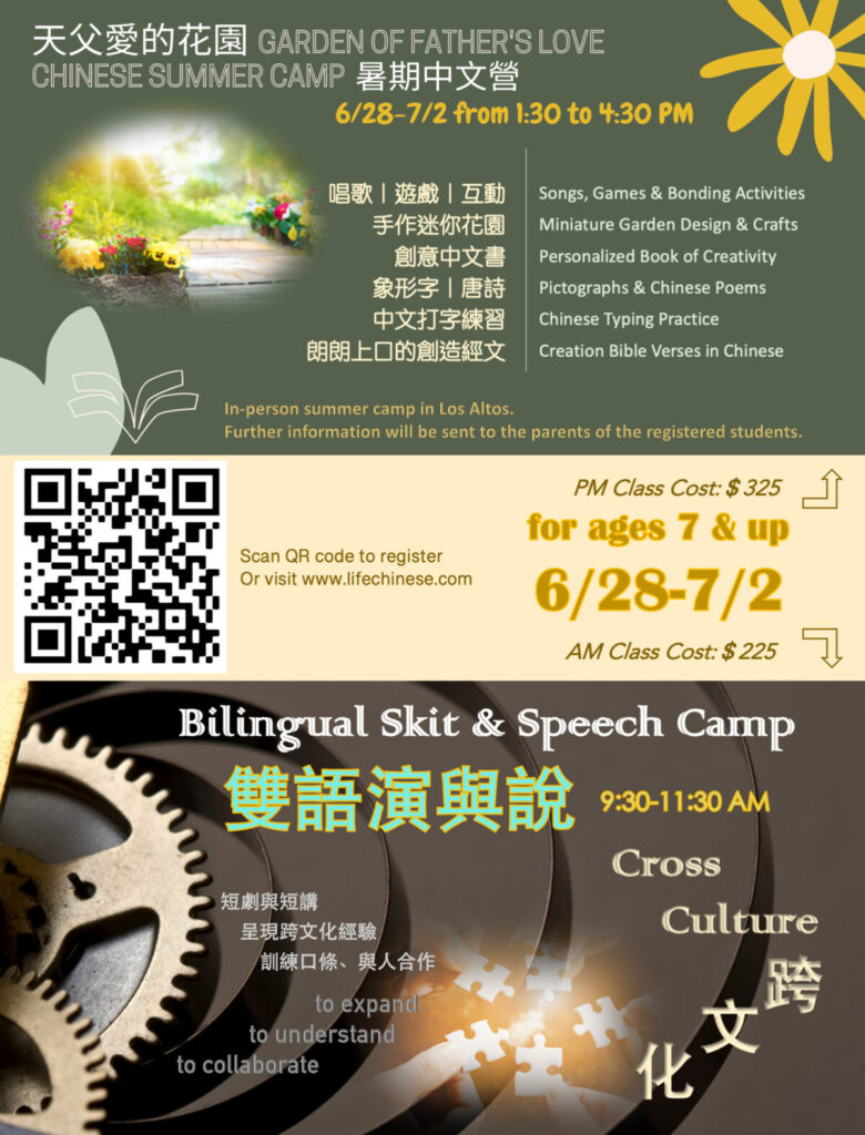 summer camp Chinese crafts fun creativity drama youth speech cross culture children